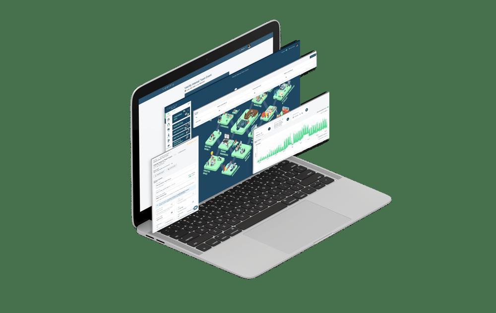 isometric website screens mockup-min